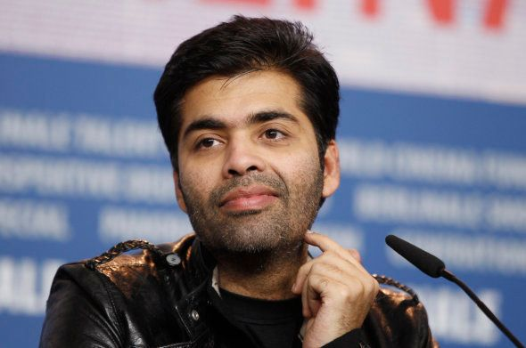 Director Karan Johar attends a news conference to promote his movie