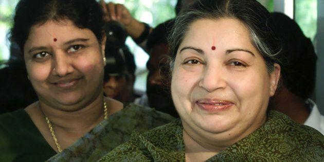 J Jayalalithaa and Sasikala in a file