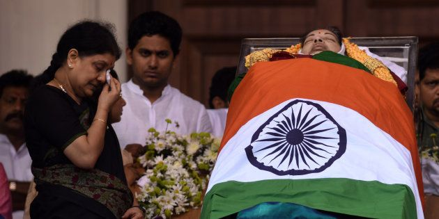 Sasikala, J Jayalalithaa's long time friend and political aide is seen by her side during the