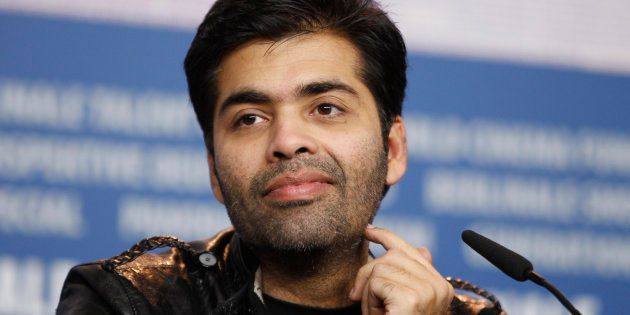 Director Karan Johar attends a news conference to promote his