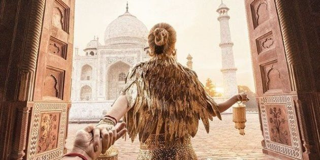 The Famous 'Follow Me To' Couple Visited The Taj For Another Stunning Photo