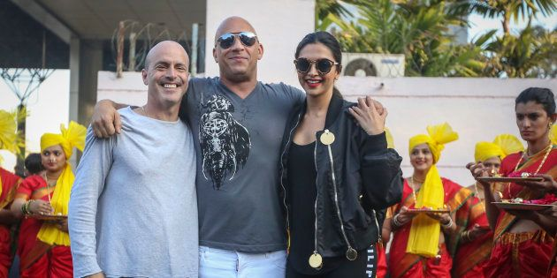 Deepika Padukone And Vin Diesel Just Landed In Mumbai To An Insanely Loud Desi