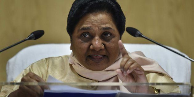 Bahujan Samaj Party (BSP) Chief Mayawati addresses a press conference against Demonetization at Party...