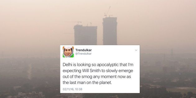 Delhiites Are Sharing Terrifying Smog Pictures As Air Pollution Reaches Apocalyptic