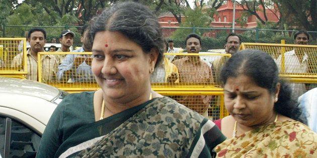 Sasikala Natarajan in a file