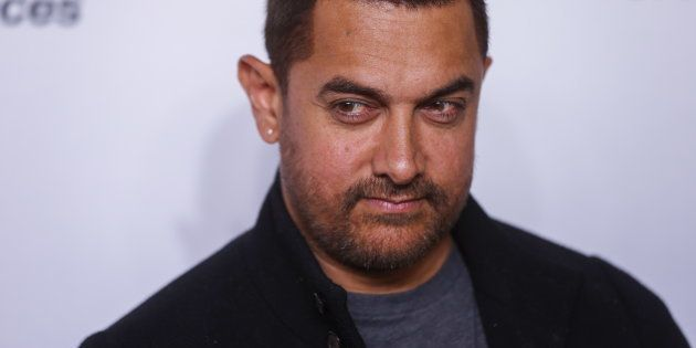 Indian actor Aamir Khan arrives for the opening night of the Women in the World summit in New York April...