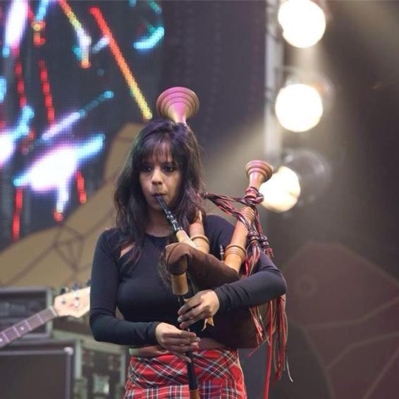 This Woman, Who Claims To Be India's First Female Commercial Bagpiper, Has Made Some Really Cool