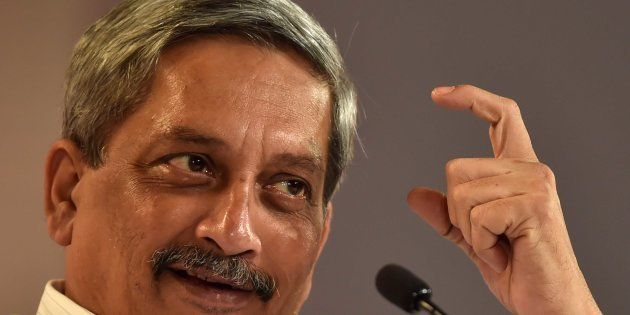 Union Minister of Defence Manohar Parrikar in conversation with Nitin Gokhale, National Security Analyst,...