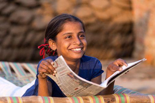 Girl with homework