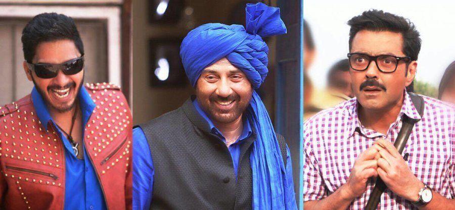 Shreyas Talpade, Sunny, and Bobby Deol in the Hindi remake of 'Poster Boys.'