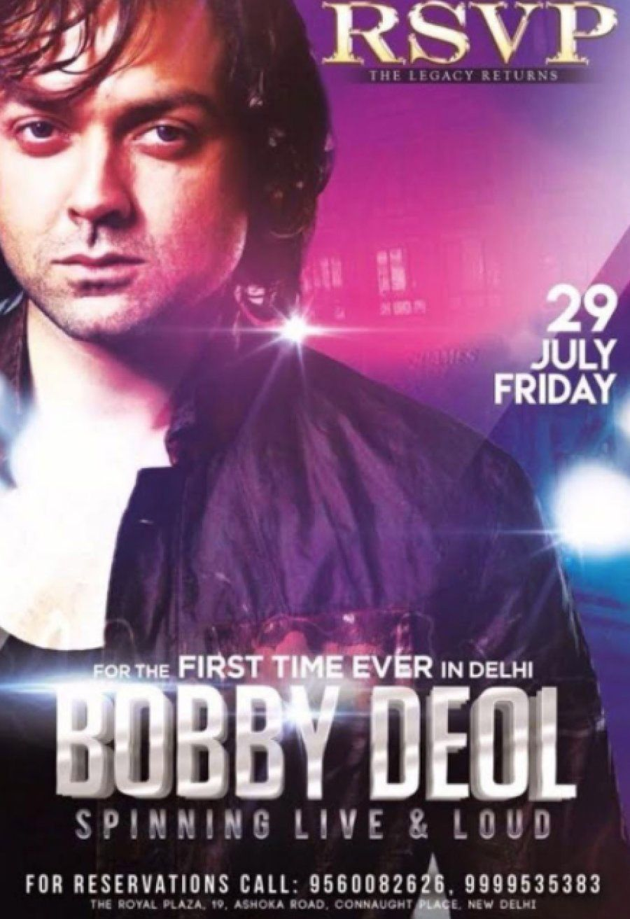 A promotional poster of Bobby's gig that took place in Delhi in July last