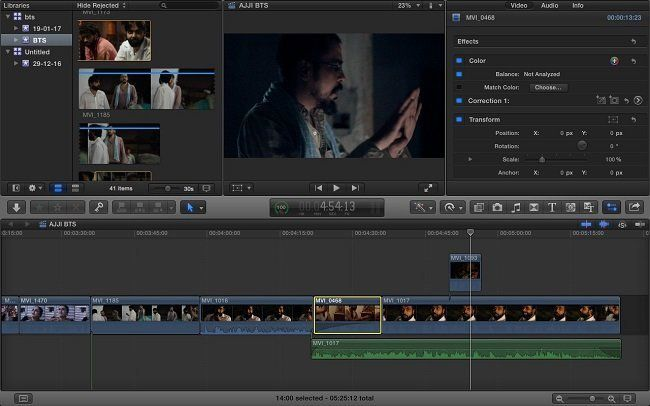 Editing is fun, in fact, that's where a film gets made...