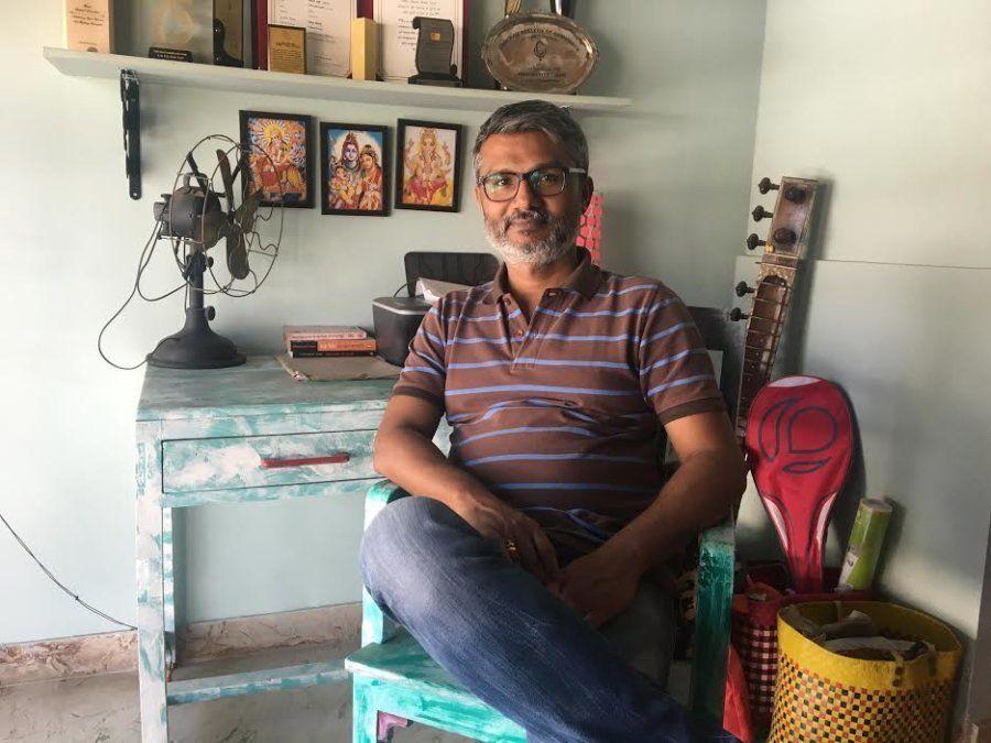 Nitesh Tiwari in his Chembur residence.