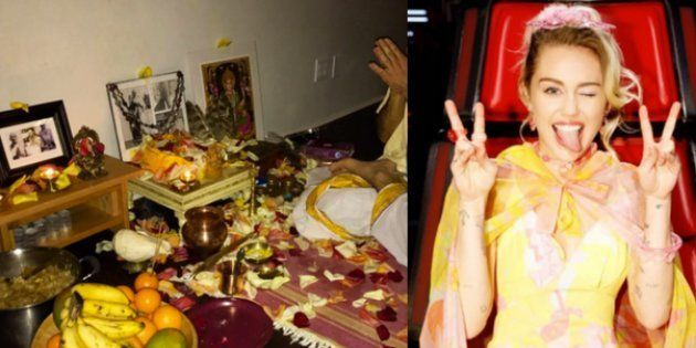 Miley Cyrus Gave Super Bowl A Miss, Did Lakshmi Puja