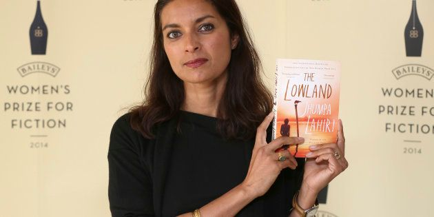 Author Jhumpa Lahiri poses with her