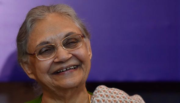 Former Delhi Chief Minister and Congress leader Sheila Dikshit during a press conference on July 5,