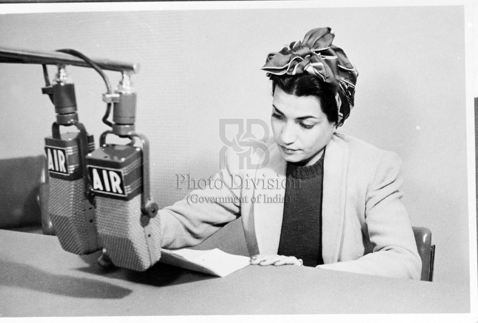 Princess Ashraf of Iran, broadcasting in the Persian Service. A programme of 60 minutes was offered daily...