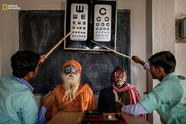 Sundarbans, India, 11 January 2016: Dr Asim Sil leads a team of eye care specialists on a boat-camp for eye care in a remote part of the Sundarbans.