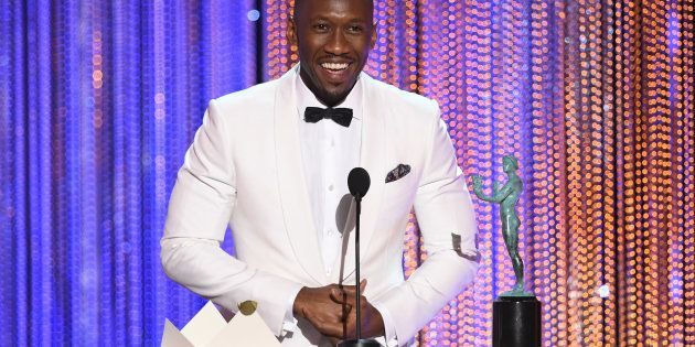 Actor Mahershala Ali accepts Outstanding Performance by a Male Actor in a Supporting Role for 'Moonlight'...