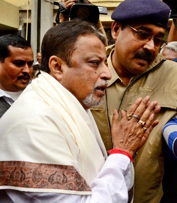 Trinamool Congress General Secretary and Rajya Sabha MP Mukul Roy arrives at the office of the Central...