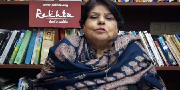 Why 77-Year-Old Pakistani Poet Kishwar Naheed Left An Urdu Festival In Delhi