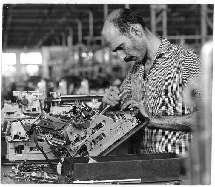 The Godrej Typewriter Plant in Vikhroli, Mumbai in the 1970s.