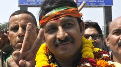 WATCH: BJP Delhi Chief Manoj Tiwari Mocking People Queuing Up Before