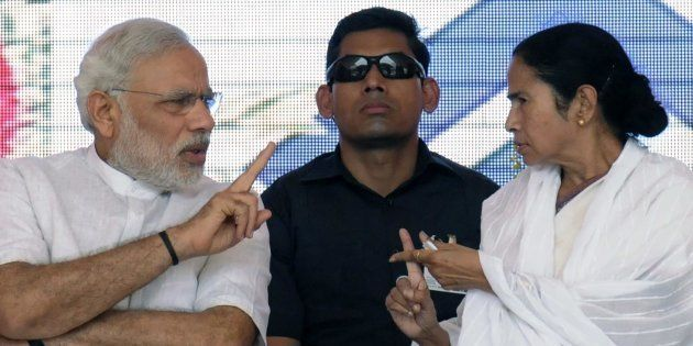 File photo of Prime Minister Narendra Modi and Chief Minister Mamata