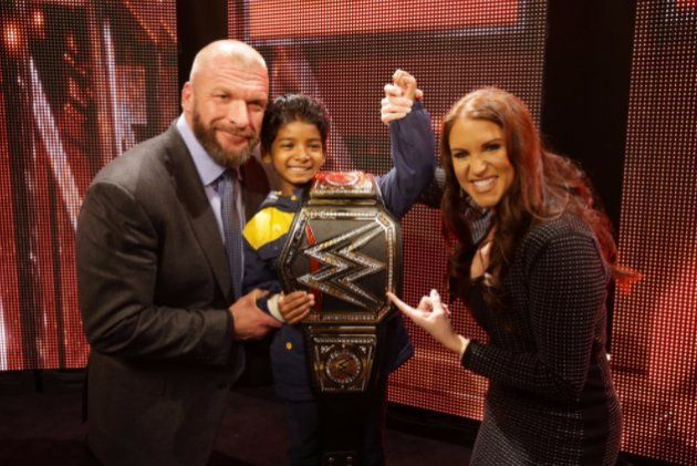 8-Year-Old 'Lion' Star Sunny Pawar Meets His WWE Idol Dwayne