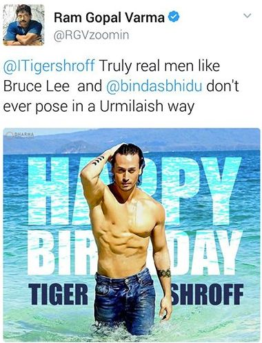 Ram Gopal Varma Calls Tiger Shroff 'Gay' And Feminine, Asks Him To Learn 'Machoism' From His