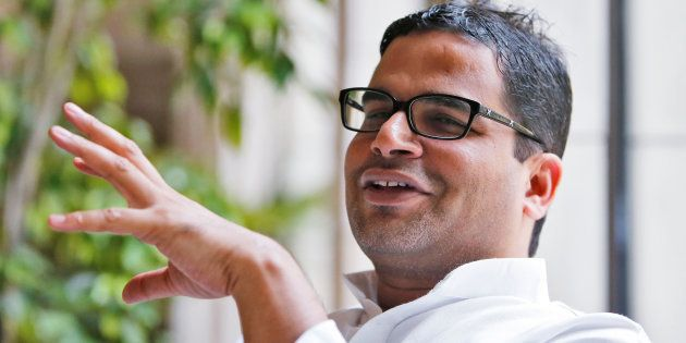 Prashant Kishor, political strategist of India's main opposition Congress party, is pictured at a hotel...