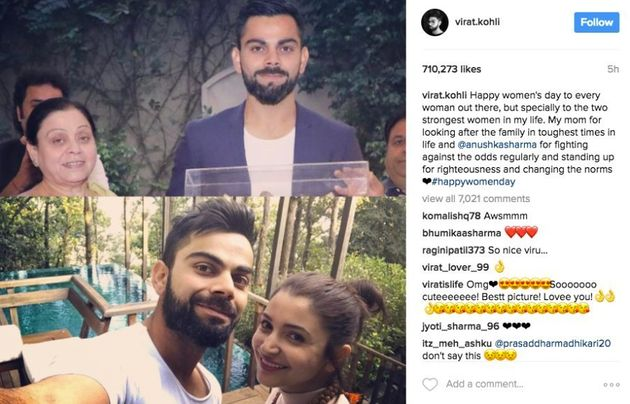 Here's How Virat Kohli Wished Two Of The Most Special Ladies In His Life On Women's