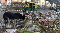 Garbages Piles Up In East Delhi As Sanitation Workers Continue To Strike For Pending