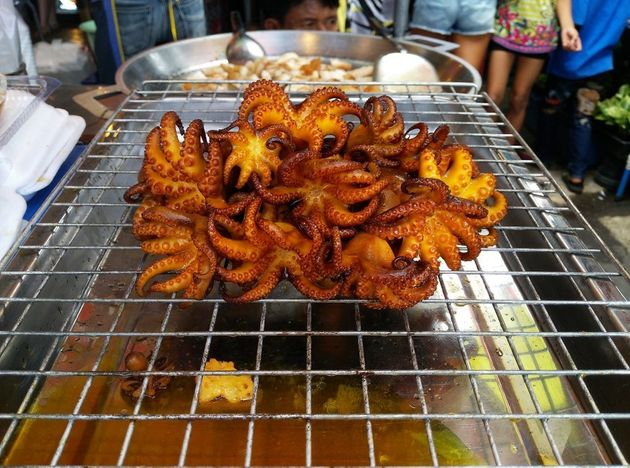 Grilled Octopus at Chatuchak