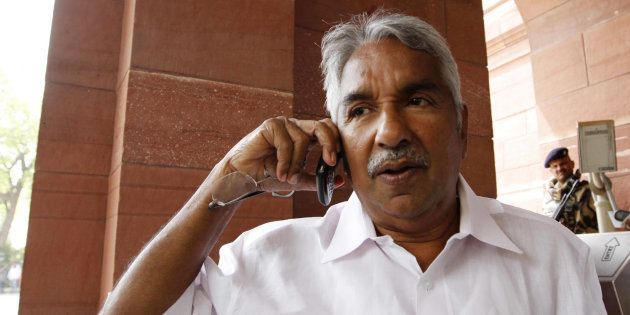 Kerala Chief Minister Oommen Chandy arrives at Parliament House to attend the Parliament budget session...
