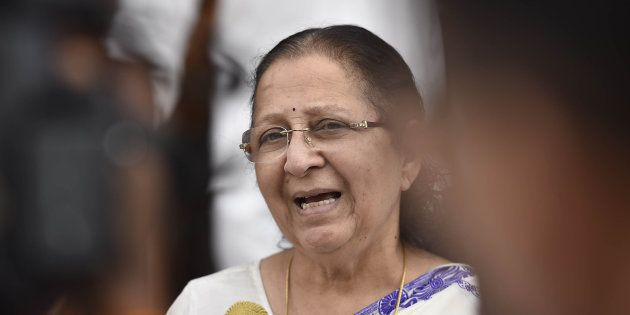 When MPs Joined Together To Wish Lok Sabha Speaker Sumitra Mahajan A Happy