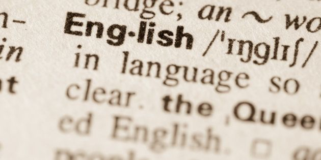 Definition of word English in dictionary