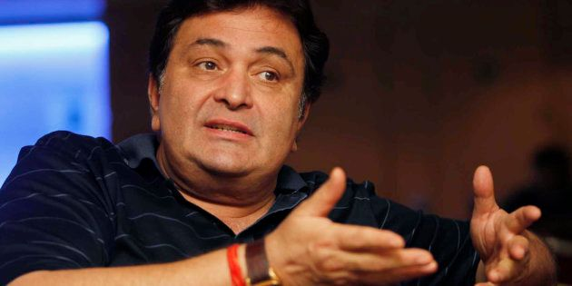 Bollywood actor Rishi Kapoor speaks during a news conference.