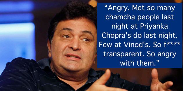 Rishi Kapoor Unleashed His Wrath At Bollywood For Skipping Vinod Khanna's Funeral For Priyanka Chopra's
