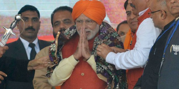 PM Narendra Modi at a rally in Jalandhar on 27 January