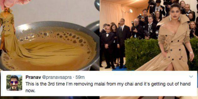 Priyanka Chopra's Flowing Brown Dress Is Spawning Some Hilarious