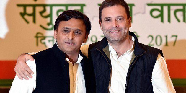Uttar Pradesh CM and Akhilesh Yadav and Congress VP Rahul