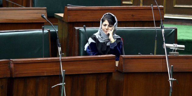 JAMMU, INDIA - JANUARY 16: Jammu & Kashmir Chief Minister Mehbooba Mufti during the Budget Session in...