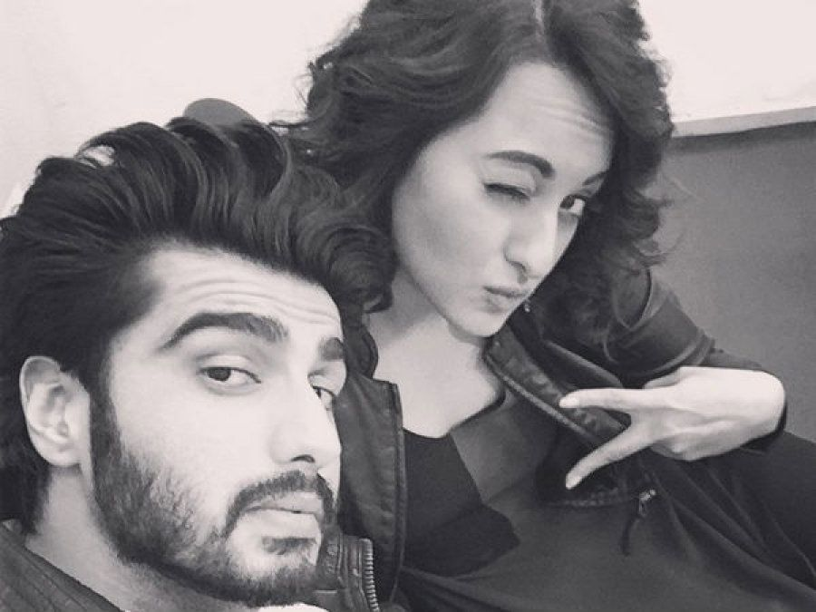 Arjun Kapoor with Sonakshi Sinha, who he was rumoured to be dating.