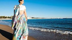 Sonam Kapoor Drapes Herself In A Saree For Her First Look At