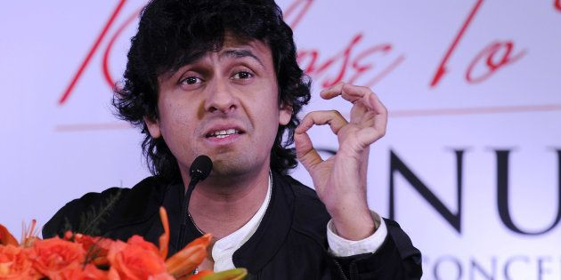 Indian Bollywood playback singer Sonu