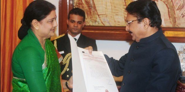 Sasikala met Tamil Nadu Governor C Vidyasagar Rao on 9 February,