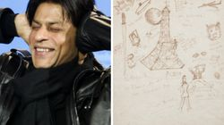 This Touristy Doodle Of Paris By Shah Rukh Khan From 1997 Features King Kong Climbing The Eiffel