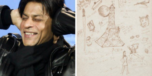 Shah Rukh Khan's Doodle From 1997 Is A Quirky Tourist's Impression Of