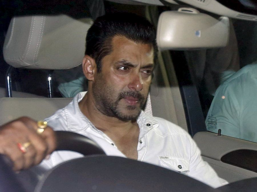 Bollywood actor Salman Khan sits in a car as he leaves a court in Mumbai, India, May 6, 2015. An Indian...